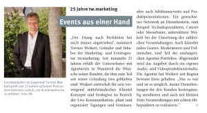 Presseartikel tw.marketing Communications & Events